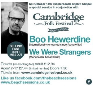 Beyond the Cambridge Folk Festival: Boo Hewerdine & We Were Strangers at Waterbeach Baptist Chapel