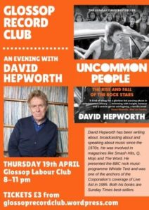 David Hepworth – appearing in the North!
