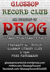 Glossop Record Club PROG NIGHT – Thursday 10th March